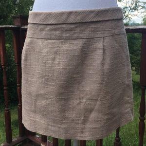 J. Crew | Tan Linen Miniskirt 6